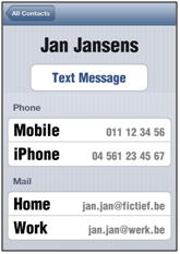 Screenshot vergroot contactdetail
