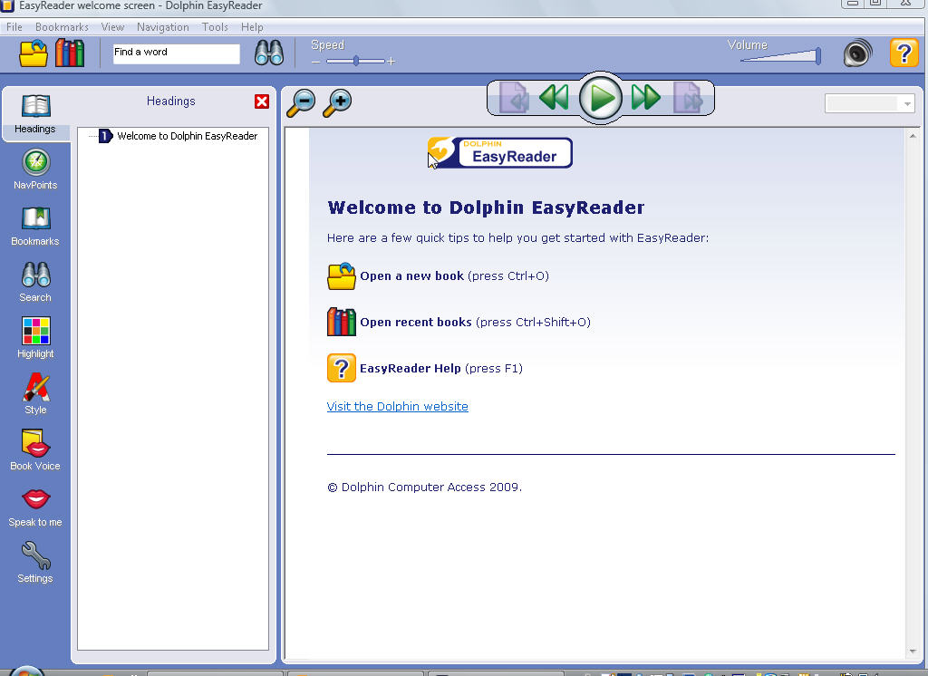 Dolphin Easyreader software voor DAISY