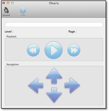 Olearia interface screenshot